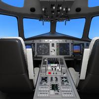 Aircraft Cockpit Scene