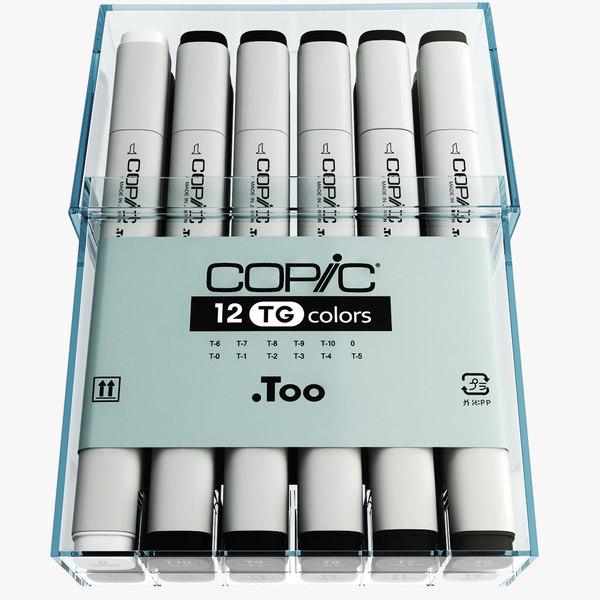 3d model toner gray copic markers