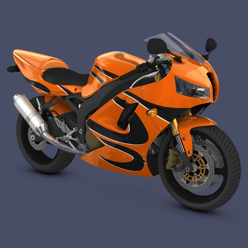 3d model bike generic sport 2000s
