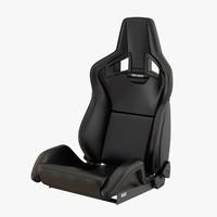 3d model sports car seat sportster