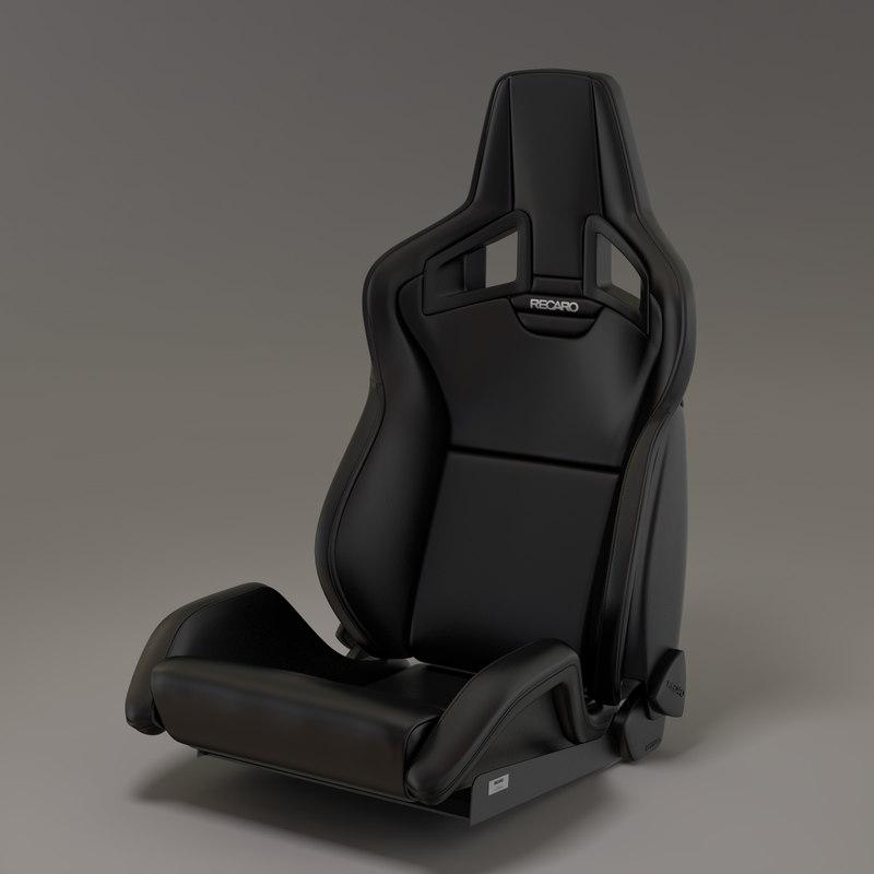 3d model sports car seat sportster. Black Bedroom Furniture Sets. Home Design Ideas