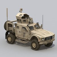 3d matv vehicle army model