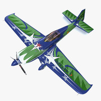 3d model of mxs-r acrobatic aircraft mxs