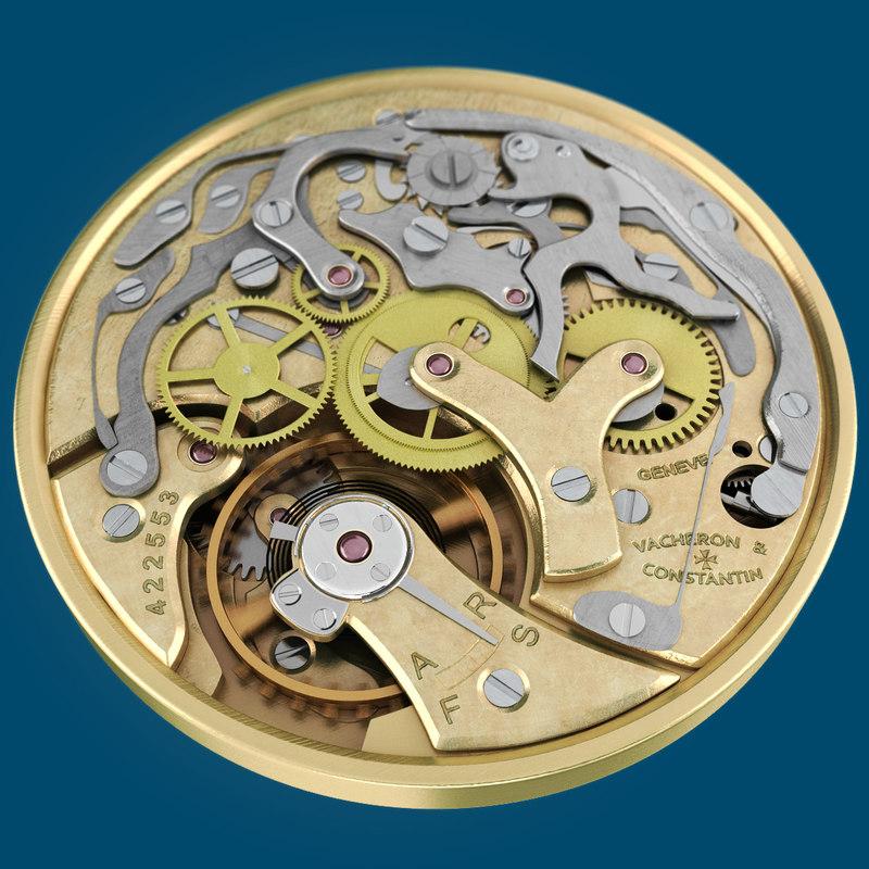watch mechanism materials 3d model