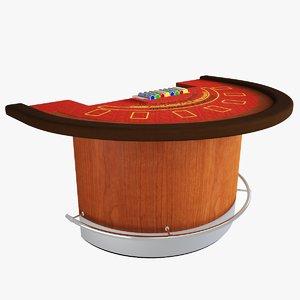 3d casino blackjack table