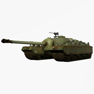 united states wwii t28 3d model