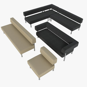 3ds quadro couches sofa armchair