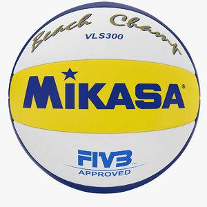 beach volleyball ball 3d 3ds