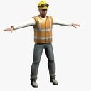 construction worker 3D models