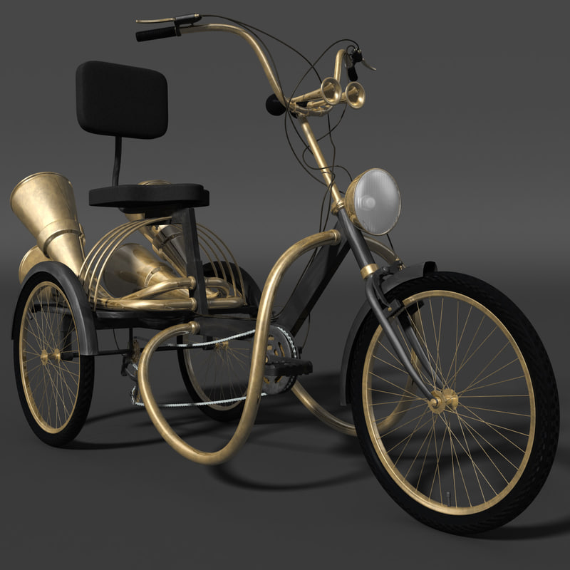 3dsmax steampunk tricycle