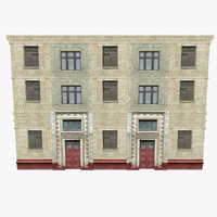 old brick building walls 3d 3ds