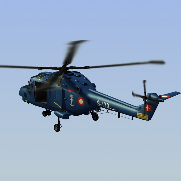 lynx navy helicopter 3ds