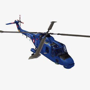 westland lynx mk90 naval 3d model