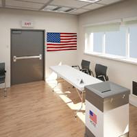 Polling Station Scene