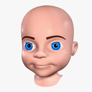 cartoon boy - head 3d model