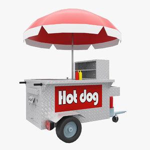 3dsmax hot dog shop