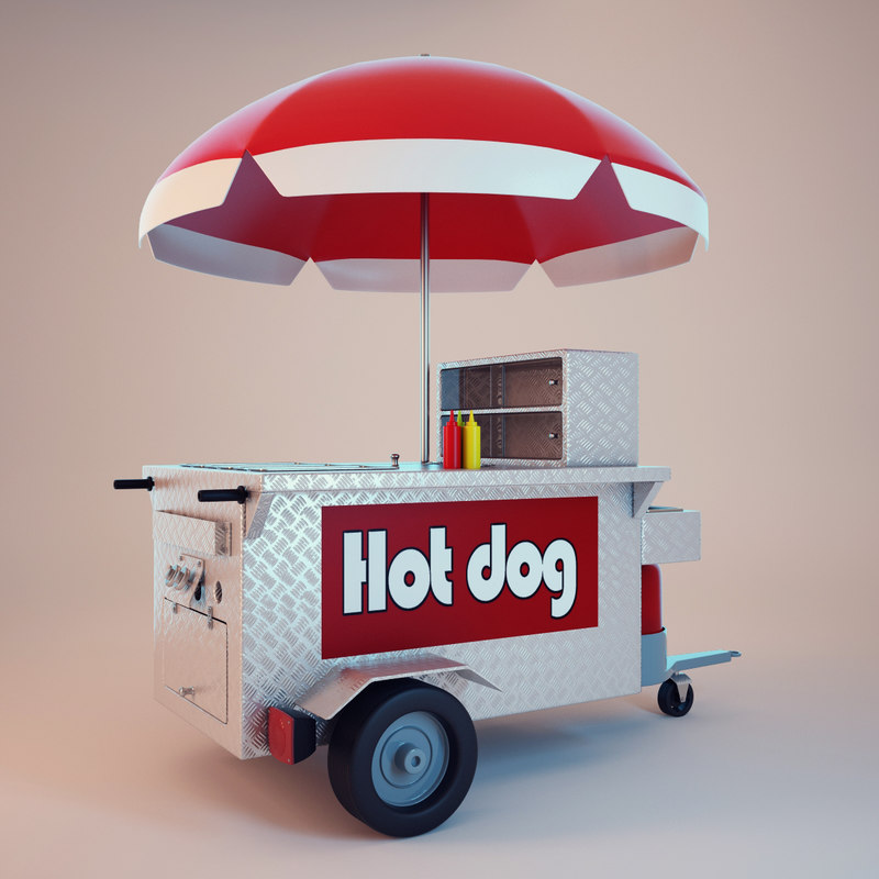 3dsmax hot dog shop. Black Bedroom Furniture Sets. Home Design Ideas