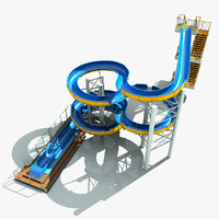 water slide 3d max