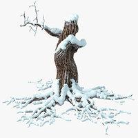 Dry Tree Snow
