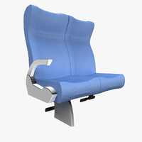 luxury coach seat 3d model
