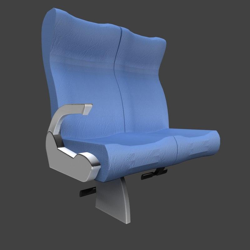 luxury coach seat 3d model