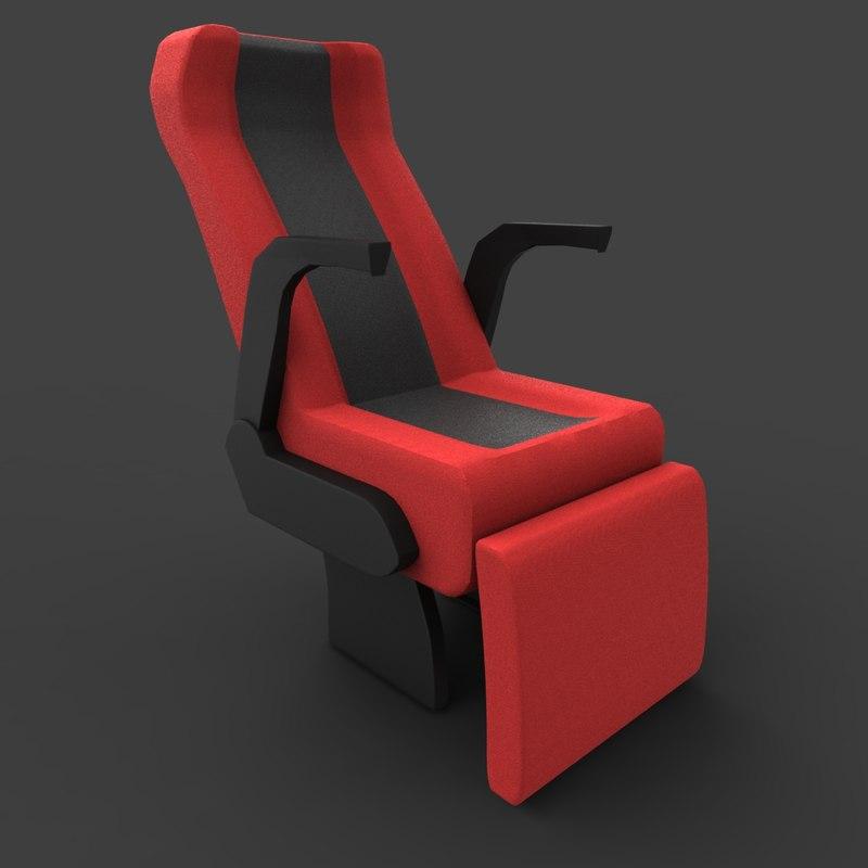 3d model luxury coach seat