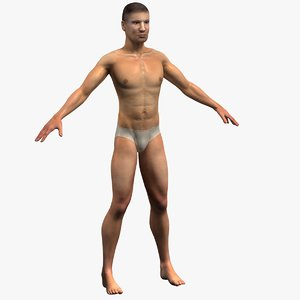 3d masculine male athlete