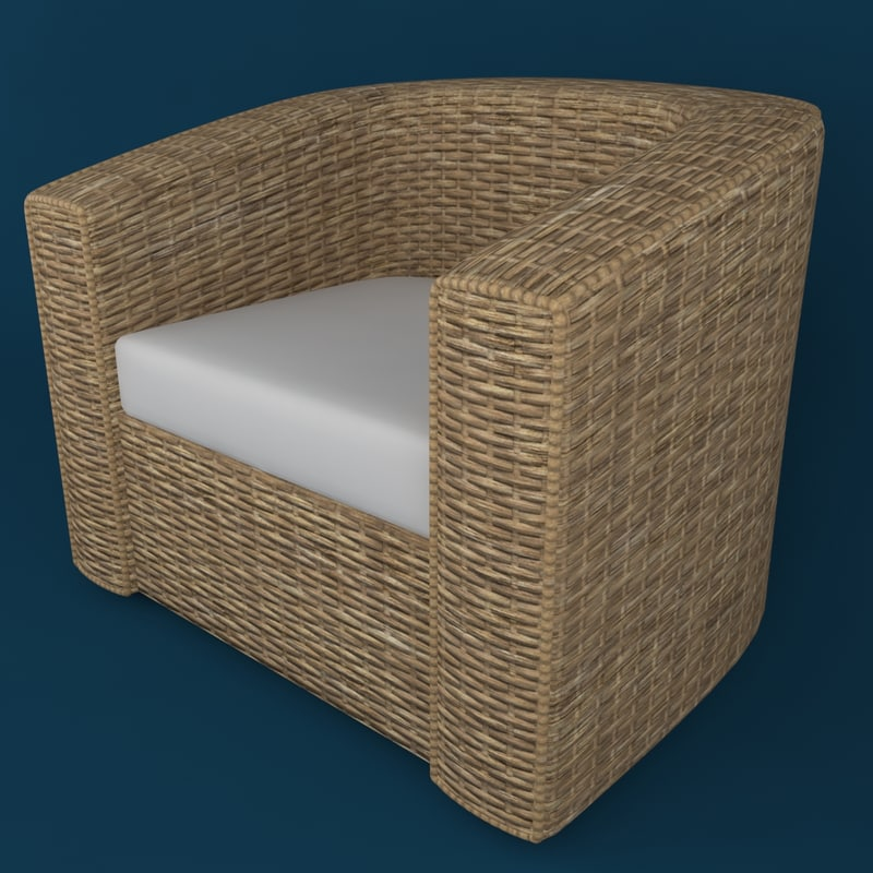 wood chair 3d obj