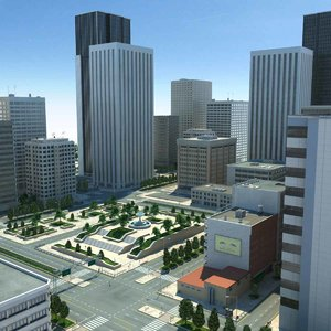 city cityscape 3d max