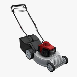 3d model petrol lawn mower