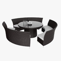 rattan outdoor set max