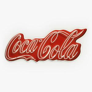 3d coca cola neon sign model