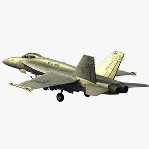 3ds max fa18e super hornet strike fighter
