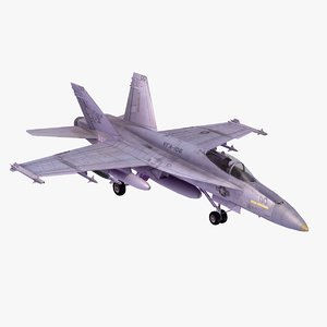 f18e superhornet fighter 3d model