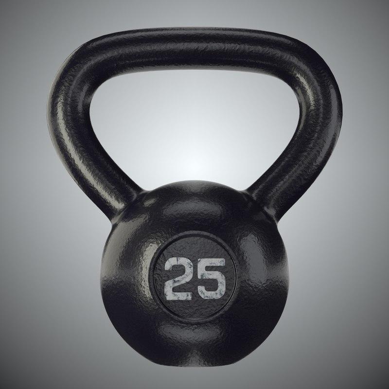 kettlebell bell 25 3d max