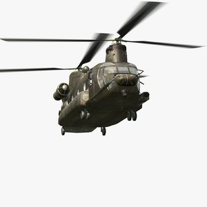 3d mh47g chinook helicopter soar model