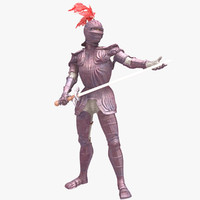 3d games purple knight model