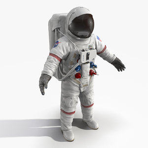 3d astronaut space suit model