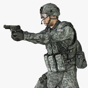 3d military male soldier helmet model