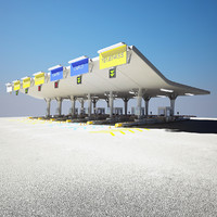 highway toll gate 3d model