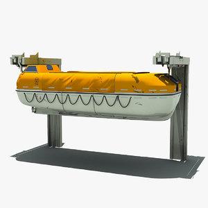 lifeboat boat life 3d max