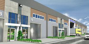 3d model modern wholesale trade center