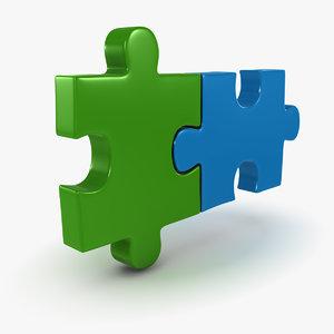 3d puzzle piece 2