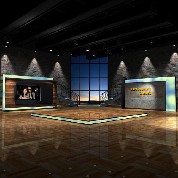 maya virtual set shows evening
