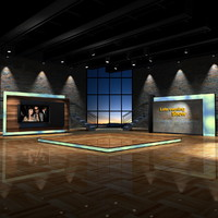 maya virtual set shows evening