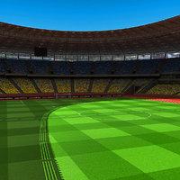 nsc olympiyskiy stadium kiev 3d model