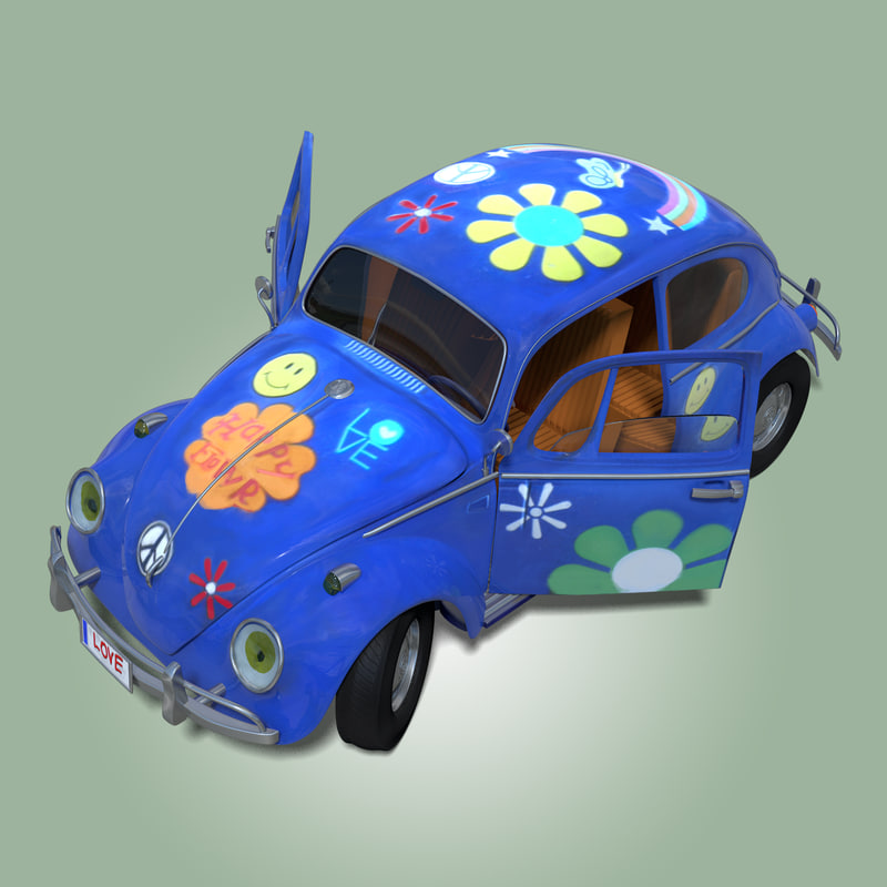 toy car rigged 3d obj