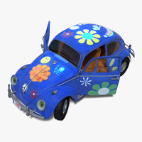 Beetle Toy Car Rigged