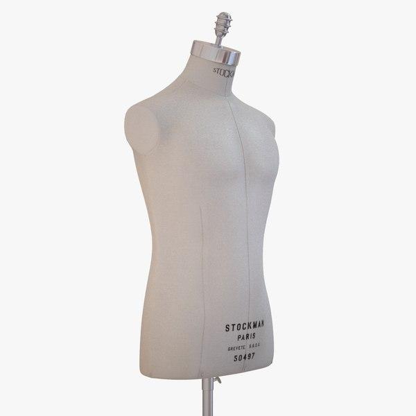 - stockman man mannequin obj