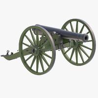 3d 12lb napoleon cannon